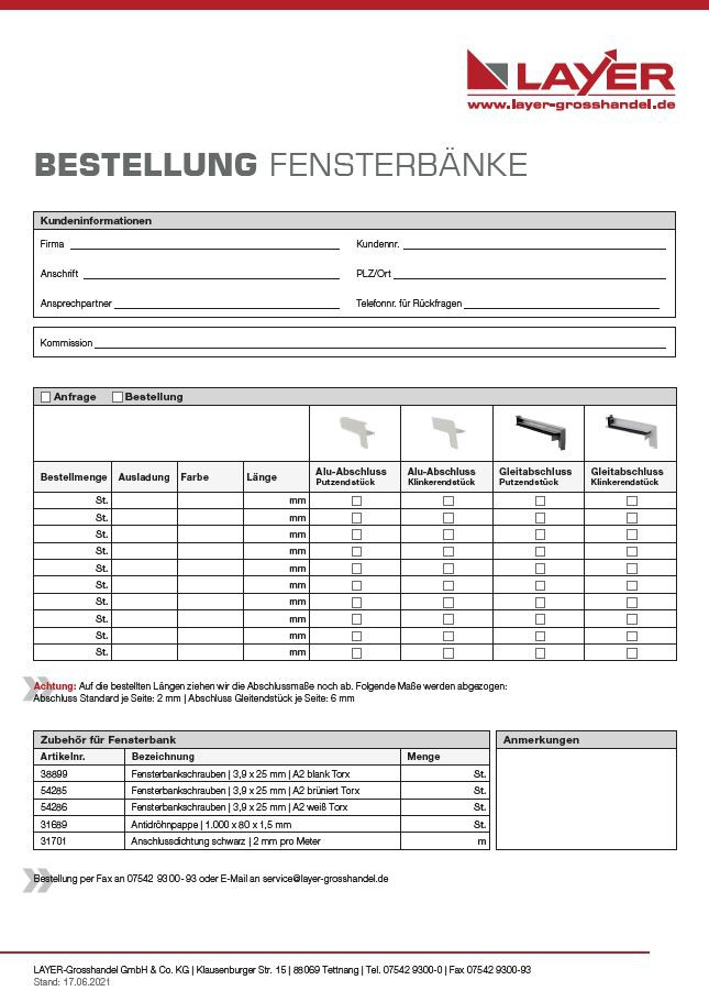 fensterbank auf ma tettnang bestellformular jetzt. Black Bedroom Furniture Sets. Home Design Ideas