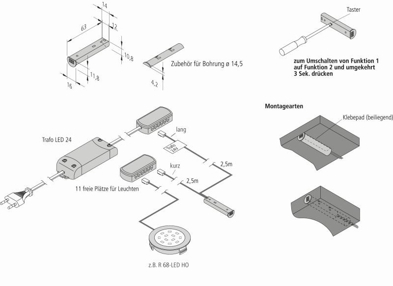 Infrarot-Schalter Hera 24V für LED-Leuchten · - Jetzt kaufen im ...