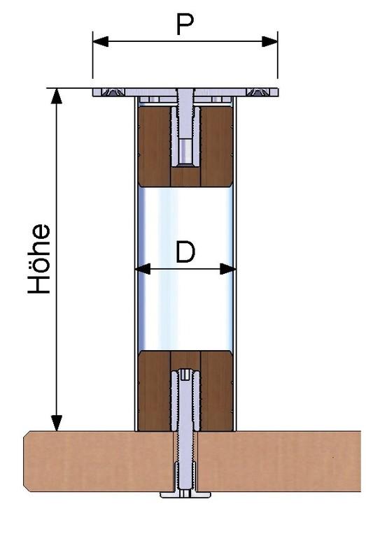 barkonsole gerade h he 170 mm jetzt kaufen im layer onlineshop. Black Bedroom Furniture Sets. Home Design Ideas