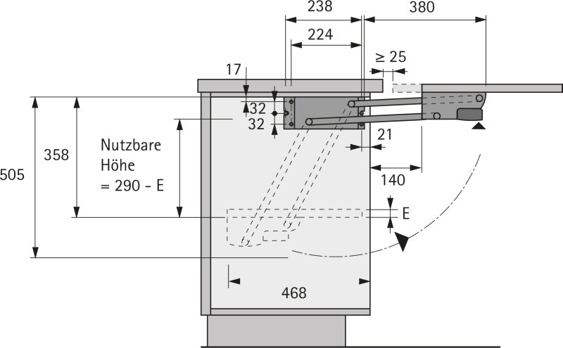 parallelschwenkmechanik f r allesschneider abdeckung ablauf dusche. Black Bedroom Furniture Sets. Home Design Ideas