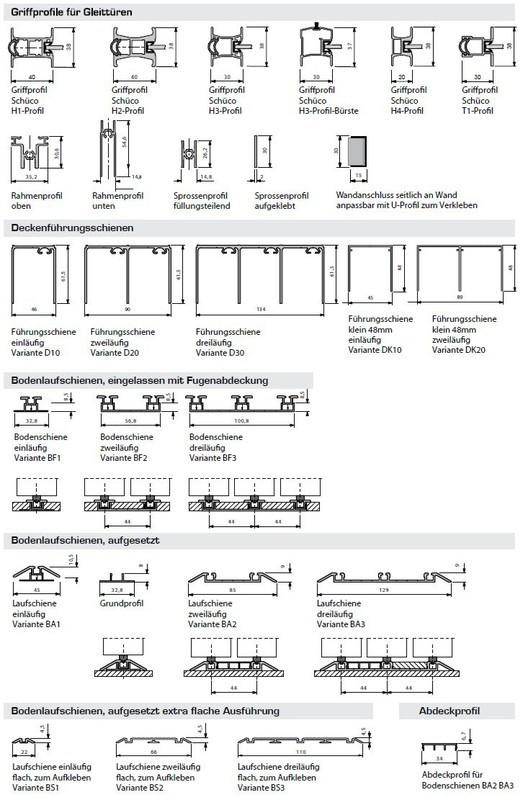schiebet ren fix und fertig mit f llung sch co doralux. Black Bedroom Furniture Sets. Home Design Ideas