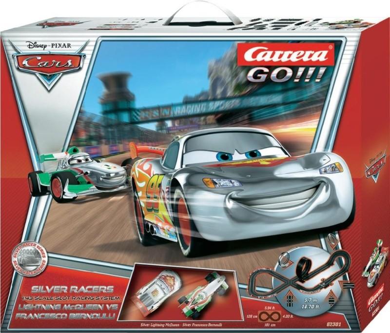 8000 points carrera bahn go disney cars silver racers. Black Bedroom Furniture Sets. Home Design Ideas