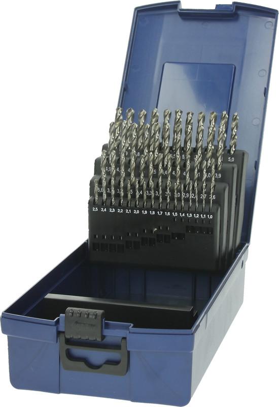 4 tlg Spiralbohrersatz HSS DIN 338 Ø 10-13 mm geschliffen