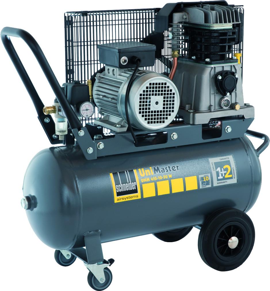 kompressor schneider unimaster unm 410 10 50 w 10 bar 295. Black Bedroom Furniture Sets. Home Design Ideas